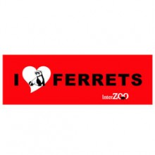 I LOVE FERRETS red 스티커